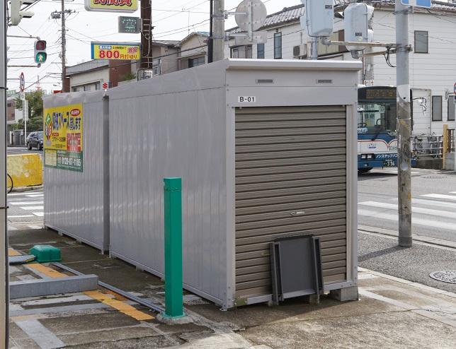 ユアスペース船橋海神-バイク駐車場外観2