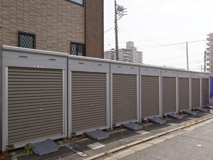 ユアスペース西船駅前-バイク駐車場外観1