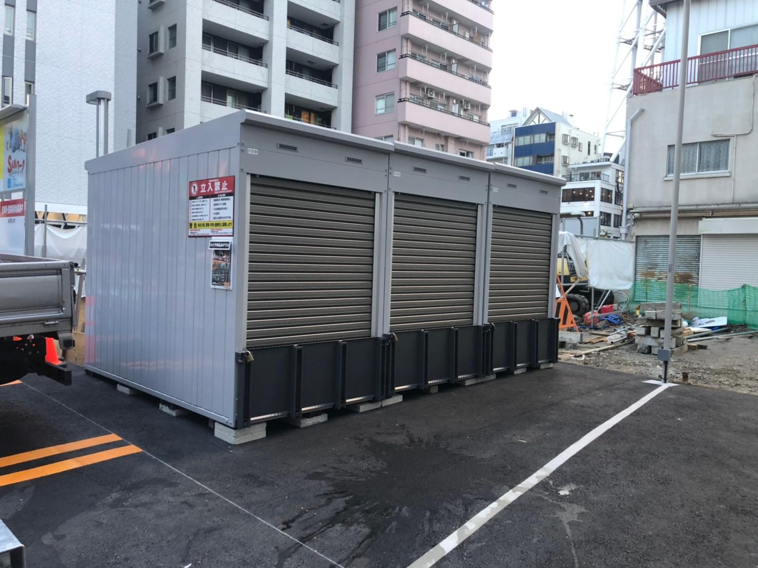 バイクストレージ墨田区業平P2外観3