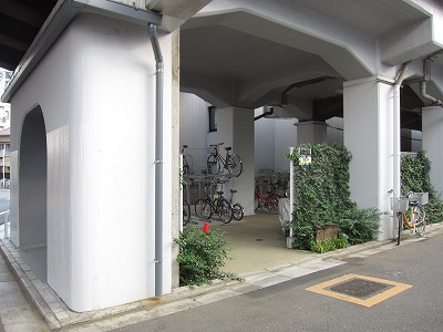 スタイリオ中延ⅡEASTバイク駐車場の物件外観